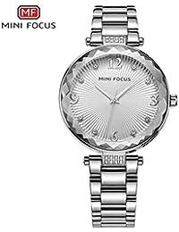 Mini Focus/Fashion Ladies Relojes de Moda Reloj de Cuarzo Reloj de Pulsera de Cristal