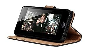 MOXIE Housse Folio articulée Velvet Noire pour iPhone 5/5S
