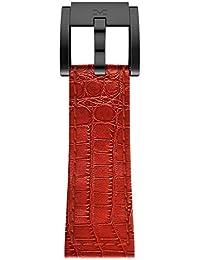TW Steel Marc Coblen Armband Uhrenband Uhrenarmband Leder 22 MM Kroko Rot LB_R_K_B