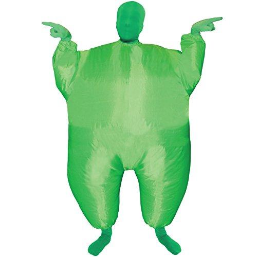 Kind Aufblasbares Kostüm - Morph grün Megamorph aufblasbar Kinder Kostüm-EINE Größe