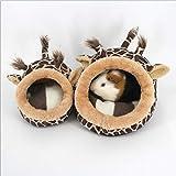 Welltobuy roditori morbido casa carino lavabile in inverno caldo peluche gabbia casa nido per topi criceto scoiattolo riccio