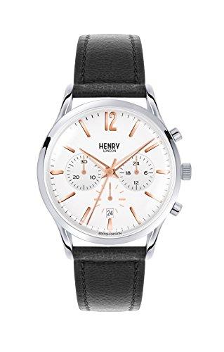Henry London Unisex-Armbanduhr Highgate Chronograph Quarz Leder HL41-CS-0011