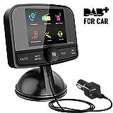 Excelvan 2.4 Pollici Schermo Colorato In-Car DAB/DAB + Adattatore Radio Digitale,con Trasmettitore FM + Bluetooth + 60 Stazioni Preimpostate,DAB/DAB + Radio digitale per Auto