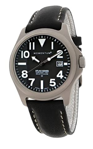 Momentum Atlas Men's Quartz Watch with Black Dial Analogue Display