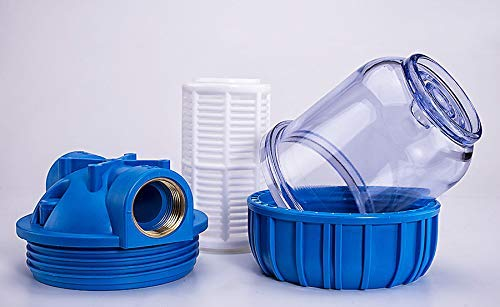 Basal Vorfilter 1\'\' 3000 L/h für Garten Pumpen Hauswasserwerke Schmutz Filter Sandfilter Plus Wandhalterung und Filterschlüssel