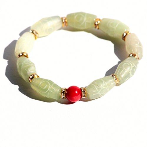 Jade-armreif Echte (Fine Art Echte Jade Koralle Armband Gravur)