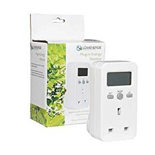 Lowenergie Plug-in Energy Monitor Power Meter Electricity Electric Usage Monitoring Socket UK