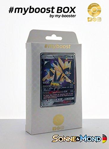 Ex Pokemon Kostenloser Versand (Box #myboost Abendmähne-Necrozma GX SM102 - Sonne und Mond - 10 Deutsch Karten Pokemon)