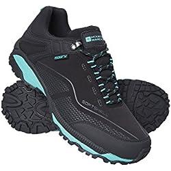 Mountain Warehouse Zapatillas Impermeables Collie para Mujer - Calzado liviano para Damas, Zapatos Transpirables para Caminar, Zapatos Suaves para Caminar - para Caminar Negro 39