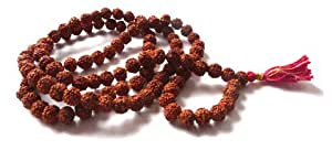 MALA en graines de Rudraksha 7 mm - 108 perles