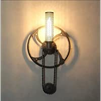 LLYY-Industriale vintage bar ingranaggio della parete lampada