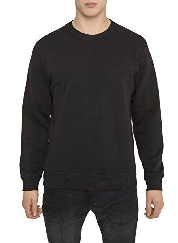 Da Uomo Designer Casual Luxe Sport Nero Semplice Crew Felpa di Cotone di Alta qualità - Felpe Regular Fit con Manica Lunga e Girocollo - Tinta Unita - London Fashion Sweatshirt - Moda da Uomo - Nera M