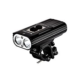 Soonfire FD38S faro per bici'faretto luce per bici ricaricabile via USB Super Luminoso'2 * CREE XM-L2 LED 1870 lumen con una portata effettiva di 167 M'impermeabile'semplice montaggio e smontaggio