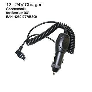 12V Ladekabel Becker: KfZ Autolader für Traffic Assist zB: Z107 Z108 Z109 Z113 Z115 Z116 Z117 Z213 Z 215 Z217 43 Traffic Ready Active. - 90° abgewinkelter Spezialstecker, 12-24 Volt