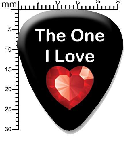The one I love Red Jewel Gitarrenplektrum
