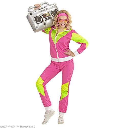 Kostüm Beliebte 80er Jahre - Widmann Damen Kostüm 80er Jahre Trainingsanzug Gr. XXL - Jogginganzug