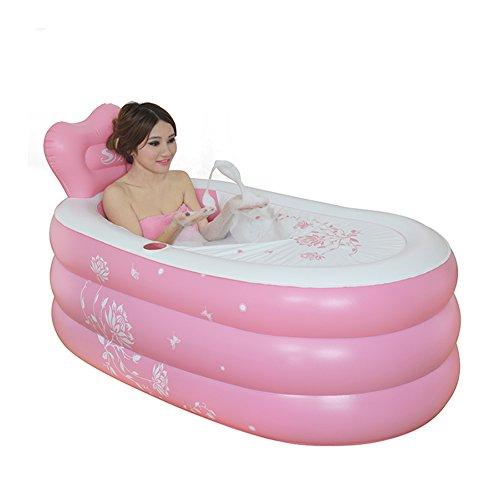 DMGF Aufblasbare Badewannen-Ergonomie-Erwachsene Bewegliche Faltbare Badewanne Mit Elektrischer Luftpumpe Bequemes Hauptbadekurort-Massage-Badezimmer BADEKURORT 150Liter,D