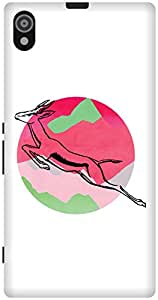 The Racoon Grip printed designer hard back mobile phone case cover for Sony Xperia Z1. (Over Moony)