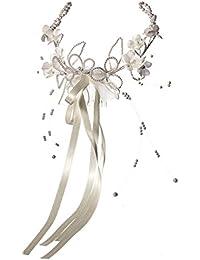 Coiffe fille d'honneur en perle et fleur pour mariage