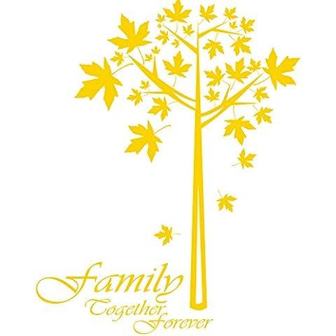 Family gfamilytree_78 together forever ancora, dimensioni: 60 cm x 76 cm, disponibile in 18 colori convenzionale):-Adesivo da parete