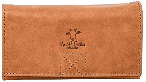 """Gusti Leder studio """"Cecily"""" portamonete elegante da donna borsetta da sera festa disco pratica robusta pelle di bufalo vintage marrone 2A18-22-5"""