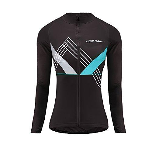 UGLYFROG Fahrradbekleidung Damen Manga Larga Radsport Trikots & Shirt Sport & Freizeit Winter with Fleece Style Full Zipper Mountainbike-Clothes #09