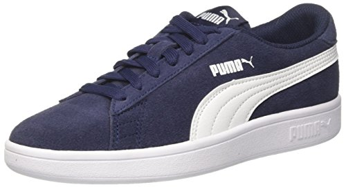 Puma Unisex-Kinder Smash V2 SD JR Sneaker, Blau (Peacoat White 02), 39 EU