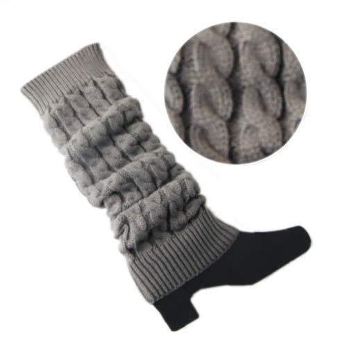 Uyhghjhb Cable Crochet Mujer Calentadores piernas