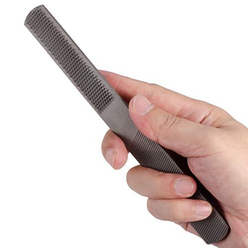 4-in-1-Bastard-Halbrunde Flachraspel, Handfeile aus Kohlenstoffstahl für Holz - Nadelfeilen, 4 Arten von Sandflächen