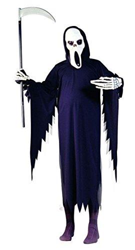 Robe Kinder Scream Kostüm - Foxxeo Sensenmannkostüm für Herren Halloween Verkleidung Größe M