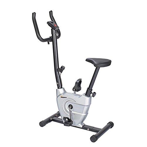 Ergometer Fahrradtrainer Faltendes Übungs-Fahrrad-magnetischer Widerstand-aufrechtes Fahrrad mit justierbarer Höhe und Geschwindigkeit stationärem Fahrrad-Cardio-Workout für Haus ( Farbe : Silber ) (Pedal-ergometer übung)