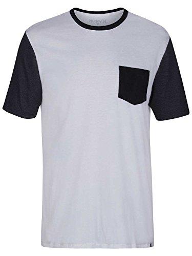 Hurley T-Shirts Color Block Pocket T-S. Sail
