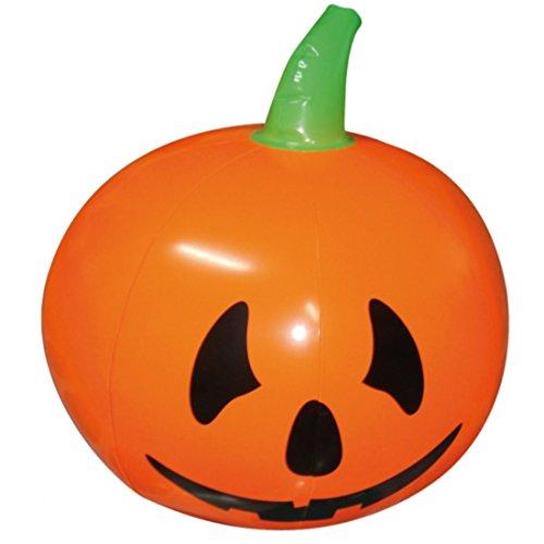 NET TOYS Halloween Kürbis Aufblasbarer Halloweenkürbis 40 cm Riesenkürbis Halloweendeko Kürbisdeko Ball Halloweenparty Pumpkin Horror Party Deko Halloweendekoration gruselig