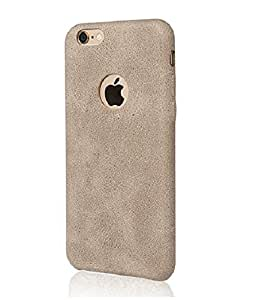 Nosson USAMS BOB Series Soft PU Leather Back Case Cover for Apple iPhone 6 -LIGHT BROWN