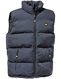 Mens Caterpillar C430 Quilted Vest Jacket - Olive - Small Medium Large XL XXL