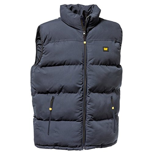 Caterpillar Quilted insulated Vest Herren Steppweste Weste Schwarz-gelb Test