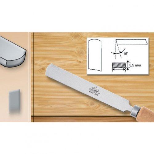 Stubai 363415 Ciseau tourneur rond avec manche en bois, Argent/beige, 15 mm