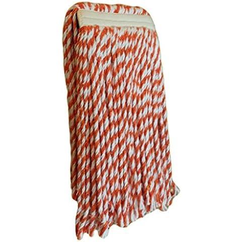Muy absorbentes de tela, cubo para mopa HEAD-CUT END, naranja despojado, 340 gramos, Pack doble