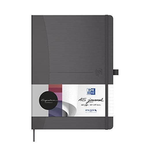 Oxford 100735224 Notizbuch Signature im Format DIN A5 kariert 160 Seiten in grau mit SCRIBZEE App zum digitalisieren ihrer Notizen