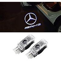 LIKECAR 2 Stück Autotür Logo Einstiegsbeleuchtung Projektion Licht Türbeleuchtung Welcome Licht(W203-AMG)