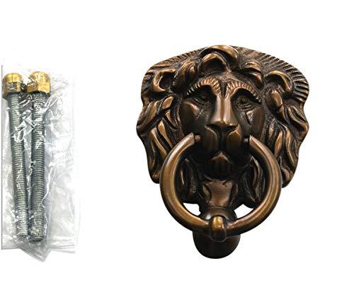 Graf von Gerlitzen Antik Messing Tür Klopfer Türbeschlag Türklopfer Löwe 105426A