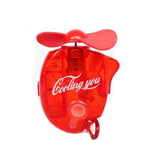 Elektrischen Handheld Fußball (buimin einfach, Mini Handheld elektrischen Fans Wasser spritzgegossener Mini Tragbar Outdoor Fan zusammenklappbar Griff Desktop Kühlung für Baby Buggy und Auto Multicolor)