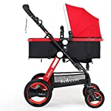 GAOYY Kinderwagen Faltbarer Leichter Ultralight Trolley-babywagen (40gk),Red