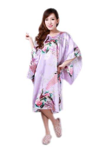 JTC Femmes Vêtement/Robe de Nuit,en soie mélangé,paon,violet clair JTC