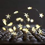 2 Sets von 30-LED Sternenfee Kupfer String Light, ANZOME Batteries betrieben Draht Lampe mit Sternen für Zimmer, Vorhang, Outdoor Dekor, Glas Flasche Dekoration für Weihnachten / Party - Warm White
