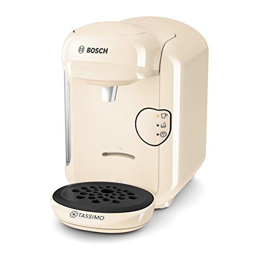Bosch TAS1407 Tassimo Vivy 2, Cafetera automática de cápsulas, diseño compacto, 1300 W, color vainilla