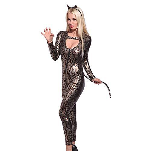 AWSAYS 2019 Halloween Sexy Selvaggio Vestito da Gatto Costume da Siamese Gilded Cat Girl Leopard Catwoman Party