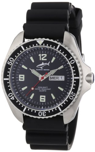 Chris Benz Men's Quartz Watch CBO.S.KB.SW with Rubber Strap