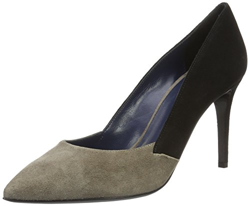 Pollini shoes sa1009, scarpe con tacco donna, beige (beige/black 20a), 40 eu