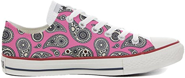 Converse Personalizzate all Star (Prodotto Personalizzato) scarpe da ginnastica, Unisex-Adulto Floral Paisley Dimensione 35 EU | Abile Fabbricazione  | Gentiluomo/Signora Scarpa